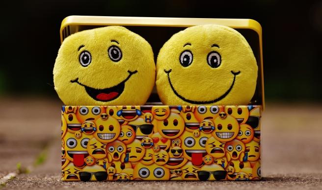 Emojis in a box