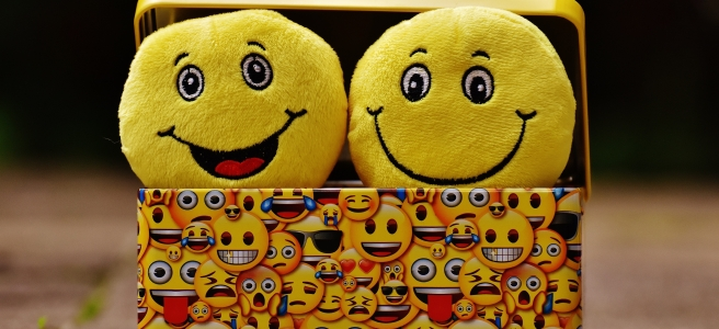 Emojis in a box